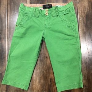 Kelly Green Sanctuary Bermuda Shorts Sz 26